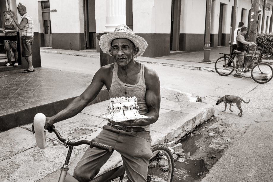 Man with Cake - Remedios, Cuba