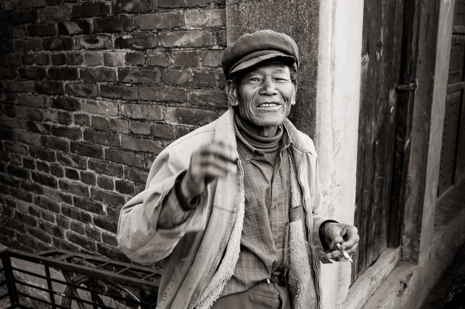 Man in Market - Dali, China